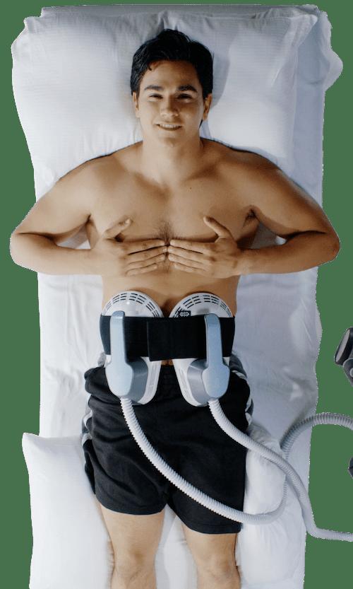 Man Emsculpt treatment