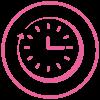 Time clock pink